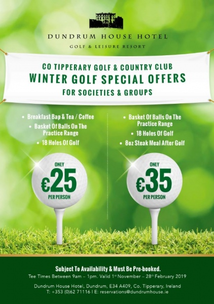 winter golf offers